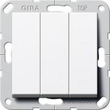 Gira Taster 3-fach rws 1polig Schließer 284403