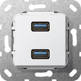 Gira USB 3.0 A 2fach rws Gender Changer 568403