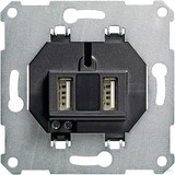 Gira USB Spannungsvers. 2fach Einsatz 235900
