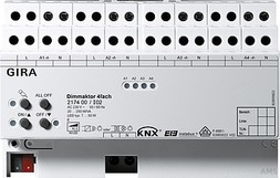 Gira Universal-Dimmaktor 4f. 4x250W KNX/EIB REG 217400