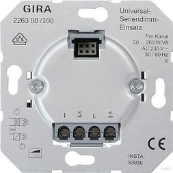 Gira Universal-Seriendimm-Einsa tz Einsätze Elektron 226300