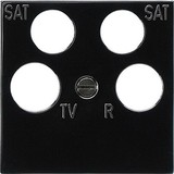 Gira Zentralplatte Ankaro sw RF/TV+2xSat 025910