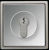 Jung Abdeckung gl.chr für Schlüsselschalt. GCR 2928