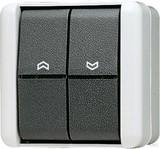 Jung Jalousie-Wippschalter 10AX 250V Tas.1-pol. 839 VW