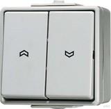 Jung Jalousie-Wippschalter ws 10AX 250V Sch.1-pol. 609 VW
