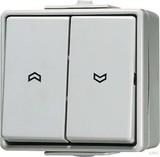 Jung Jalousie-Wippschalter ws 10AX 250V Tas.1-pol. 639 VW