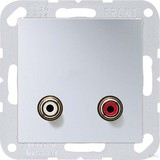 Jung Multimedia-Anschluss alu Cinch/Miniklinke3,5 MA A 1021 AL