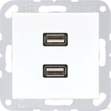 Jung Multimedia-Anschluss aws 2 x USB m.Tragring MA A 1153 WW