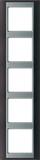 Jung Rahmen 5-fach anth alu waage/senkrecht AP 585 ANT AL
