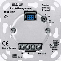 Jung Relais-Einsatz 2-kanalig 1202 URE