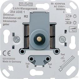 Jung Universal-Drehdimmer mit Inkrementalgeber 254 UDIE1