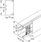 Kleinhuis Kanal rws 60x110mm HKL60110.3 (2 Meter)