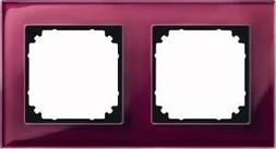 Merten Rahmen Glas 2f.rrt waage/senkrecht 489206