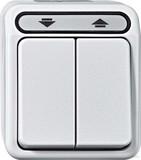 Merten Rollladenschalter 1-polig lichtgrau MEG3715-8029