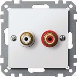 Merten Steckdose pws/gl für Audio Anschluss MEG4350-0319