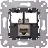 Merten Tragplatte 1fach m. RJ45 Cat6A STP MEG4576-0021