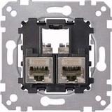 Merten Tragplatte 2fach m. RJ45 Cat6A STP MEG4576-0022