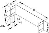 Niedax Abschlußstück WSAS 150.300 S