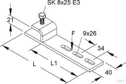 Niedax GR-Befestigungsklemme horizontal GRKH 153 F