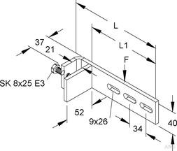 Niedax GR-Befestigungsklemme vertikal GRKV 132 F
