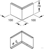 Niedax Gerätekanal-Eckeinsatz GKE 78/100 B
