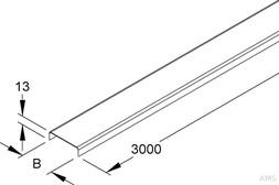 Niedax Kabelrinnendeckel RD 50 (3 Meter)