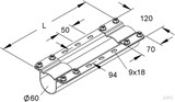 Niedax Montageträger MIMTA 60/325 F