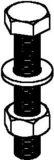 Niedax Sechskantschraube SKM 12 X 70 V (20 Stück)