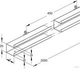 Niedax Stahl-Doppeltrennsteg GTDS 50 (2 Meter)