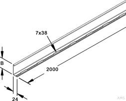 Niedax Trennsteg sendzimirverzinkt RW 60 (3 Meter)