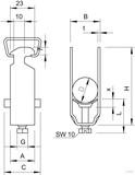 OBO Bettermann BBS-Bügelschelle f.1 Kabel 2056 40 FT