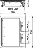 OBO Bettermann Geräteeinsatz f. Kanalmontage GES6 U 7011