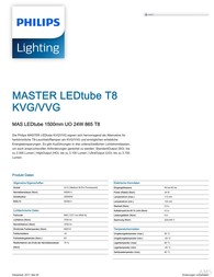 Philips LED-Tube Master 1500 UO 24W 865 3700lm T8 VVG