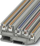 Phoenix Contact Initiatoren-/Aktorenklemme 0,14-1,5qmm, grau PTIO1,5/S/4-LED 24GN (50 Stück)