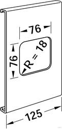 Tehalit Geräteblende R 8286 rws