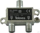 Televes Verteiler 2f. 4dB, 5-1218MHz VT24D