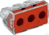 WAGO Dosenklemme 3x2,5-6qmm,transp. 773-173 (50 Stück)