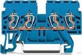 WAGO Durchgangsklemme 0,08-2,5/4qmm blau 870-834