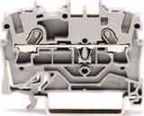 WAGO Durchgangsklemme 1,5qmm,grau,2-Leiter 2001-1201