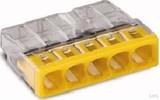 WAGO Verbindungsdosenklemme 5x 0.5-2.5 gelb 2273-205 (100 Stück)