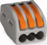 WAGO Verbindungsklemme 3x0,08-4qmm gr 222-413 (50 Stück)
