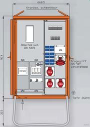 Walther Anschlussverteiler 44 kVA WAV0170A