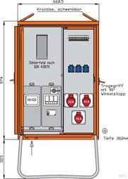Walther Anschlussverteilerschrank 22kVA m.Zählerplatz WAV0100R1