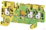 Weidmüller Schutzleiter-Reihenklemme 2,5qmm, gr/ge A3C 2.5 PE (50 Stück)